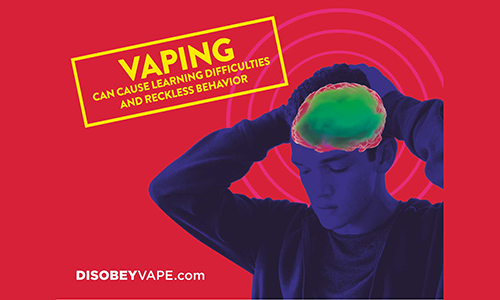 Vaping can cause learning difficulties and reckless behavior